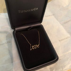 Tiffany's rose gold love necklace